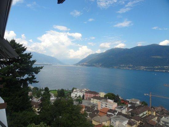 Parkhotel Brenscino: vue du balcon de la chambre