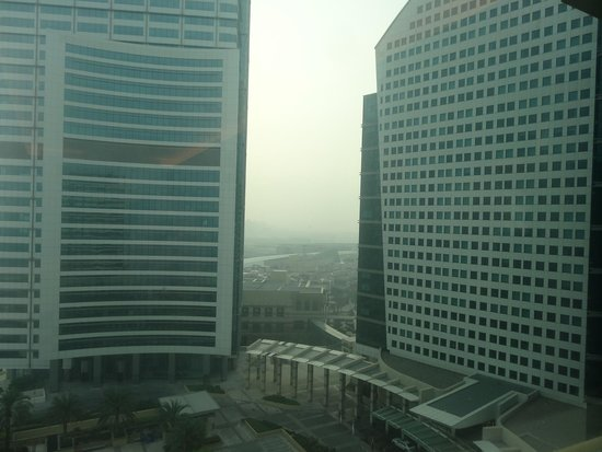 Crowne Plaza Dubai Festival City: Outside view of hotel looking at IC hotel