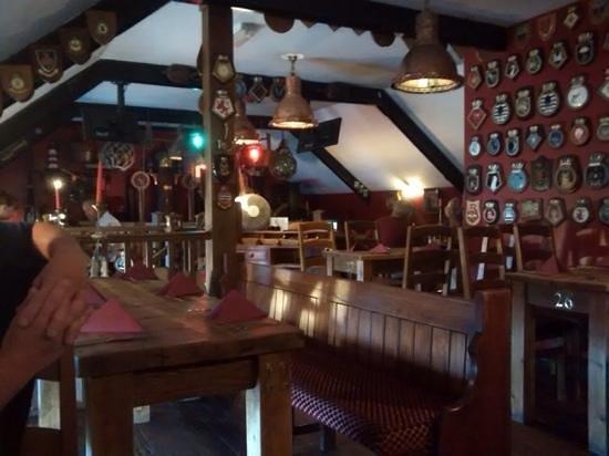 Anchor Inn: sat upstairs to eat