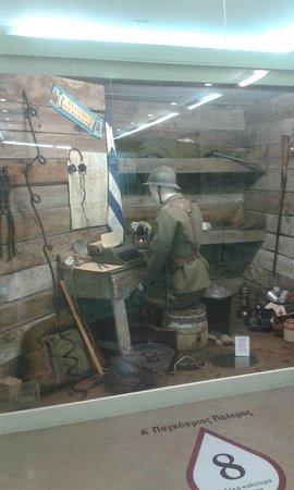 War Museum of Thessaloniki : Αναπαράσταση Α' Παγκόσμιος Πόλεμος