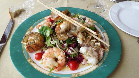 La Principessa : salade d'été gambas et queues de cigale