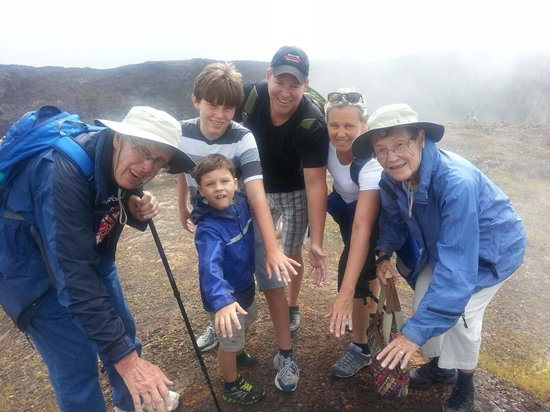 Akamai Adventure Tours & Travel : Feeling the heat from a steam vent