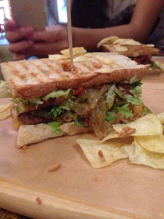 KRONE, kitchen & coffee : Philly cheese steak sandwich