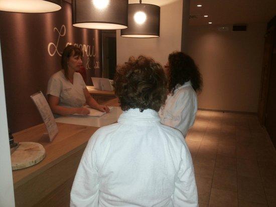 Hotel Ambassador : reception zona wellness
