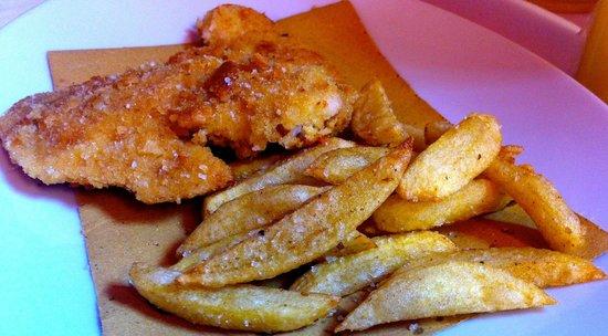 Locanda Moscal : Cotoletta doppia impanatura con patate novelle fritte