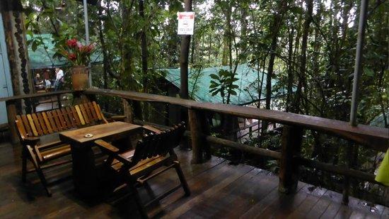 Hacienda Pozo Azul: Sur la terrasse