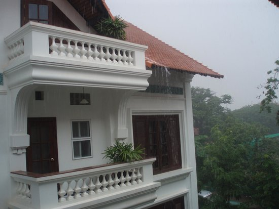 Chateau d'Angkor La Residence: View during those frequent but brief rainstorms