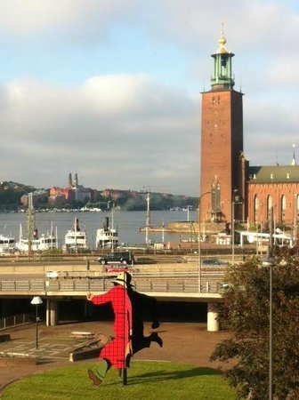Sheraton Stockholm Hotel: The view from our room.