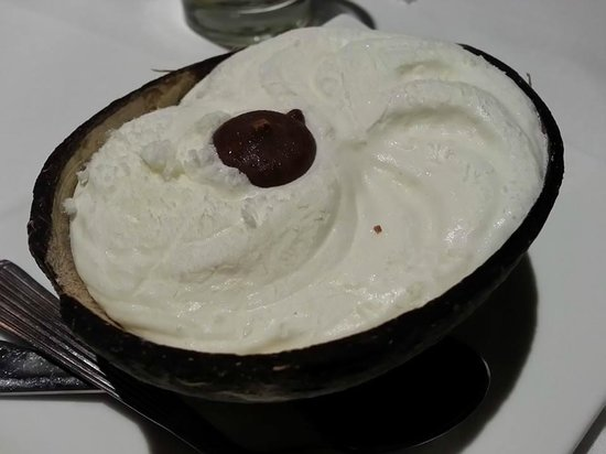 Baba & Nyonya: Coconut icecream presented in coconut shell, nice touch!