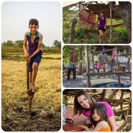 Rana : walking through the village