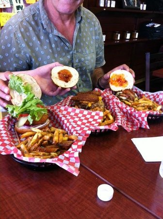 Burger Revolution: Three of the burger combo selections