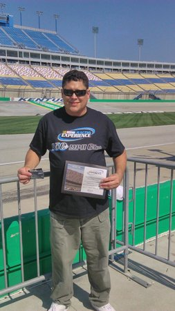 Kentucky Speedway : 170.67 mph- Received a certificate ad T-shirt (had to purchase)
