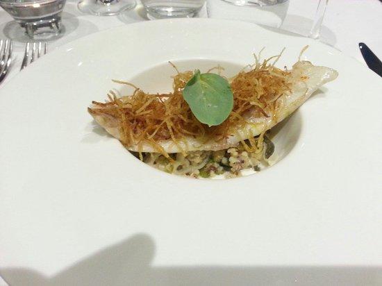 Dorade Royale Quinoa Cresson Pommes Pailles Et Cr Me L G Re Picture Of Restaurant La Table D