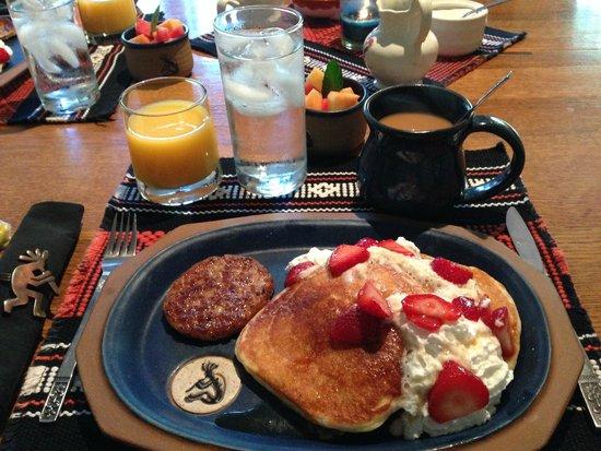 Kokopelli Inn : Delicious, hearty pancakes!