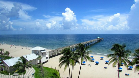 Wyndham Deerfield Beach Resort: morning view of fishing pier from our room