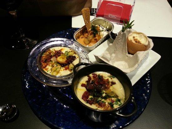 La Cocina De Alex Mugica: Algunos de mis pintxos preferidos: el huevo, el pulpo, la sardina...