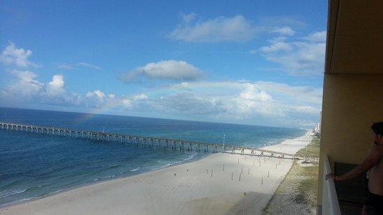 Calypso Resort & Towers: Rainbow over the pier
