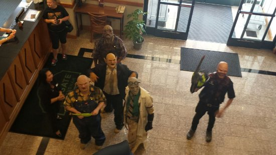 Wingate by Wyndham York: Our haunting friends from Field of Screams