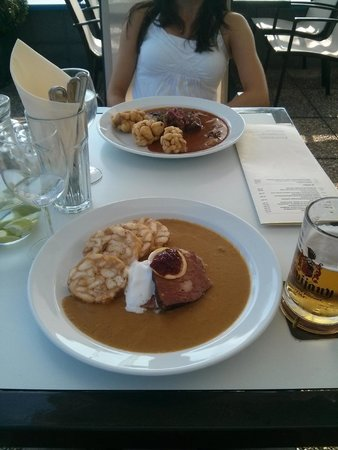 Sunset restaurant : Svickova(front) , Goulash(back)