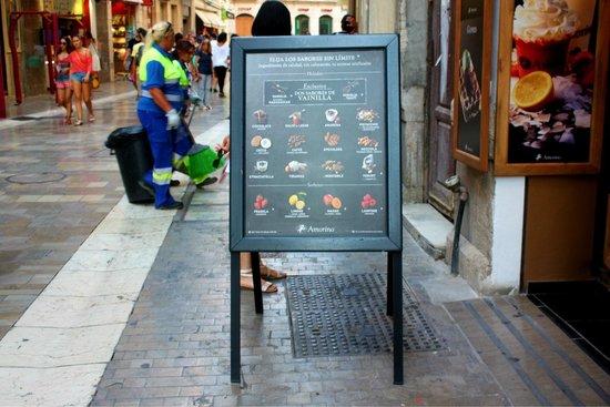 Amorino Málaga: Menu