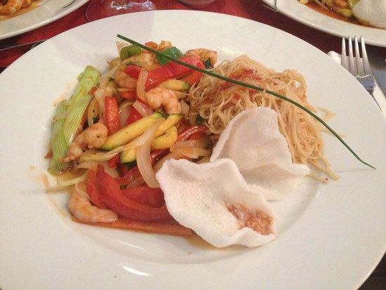 Restaurante Vino Mio: wok de gambas, ottimo!