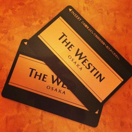 The Westin Osaka : カードキー