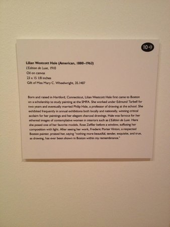 Bellagio Gallery of Fine Art : Wall Description Card w/Black Dot Audio Tour Indicator
