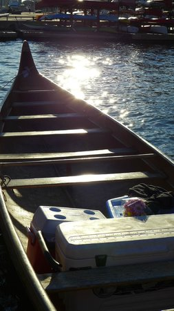 Culinary Adventure Co.: Replica Heritage freighter canoe that we paddled in