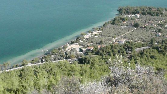 Pachis Beach: Вид с вершины горы