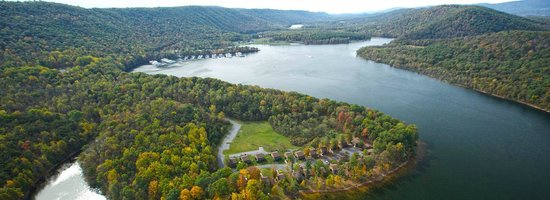 Lake Raystown Resort, an RVC Outdoor Destination: Aerial photo