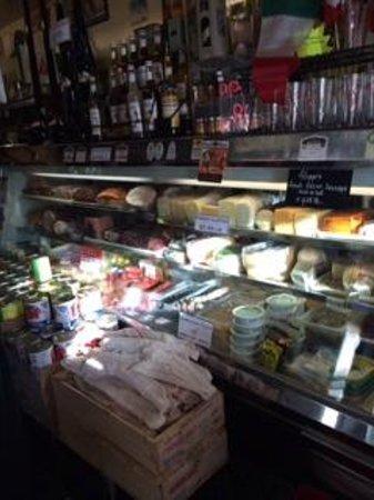 Filippi's Pizza Grotto : Enter Restaurant through Small Grocery Store
