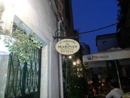 Marina's Tavern: View from Velissariou street