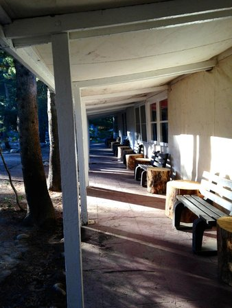 Tuolumne Meadows Lodge: morning sun light at the lodge