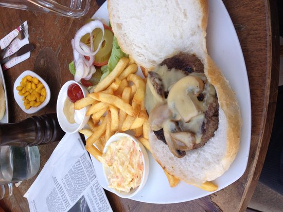 Cafe La Vie: The Swiss burger