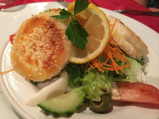 Tropicana: Toasted goat cheese