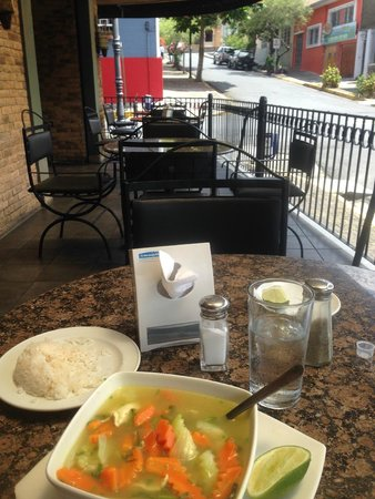 Taormina Hotel and Casino: Chicken soup at the restaurant