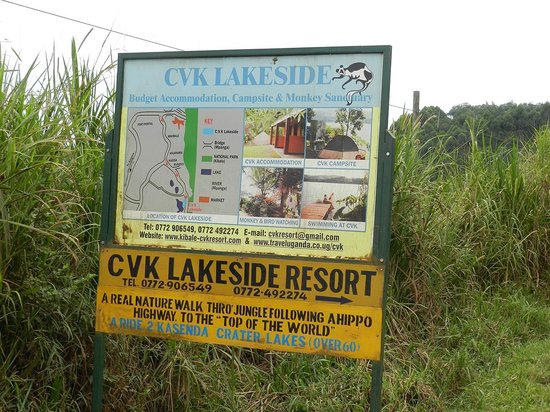 CVK Lakeside Budget Accommodation & Monkey Sanctuary: CVK sign