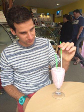 Red Boat Ice Cream Parlour: Jelly bear milkshake