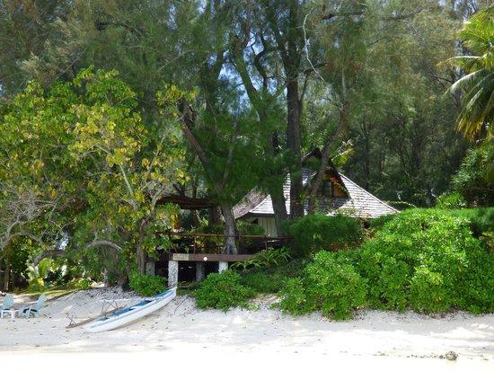 Villa Corallina Moorea: la villa vista dal mare