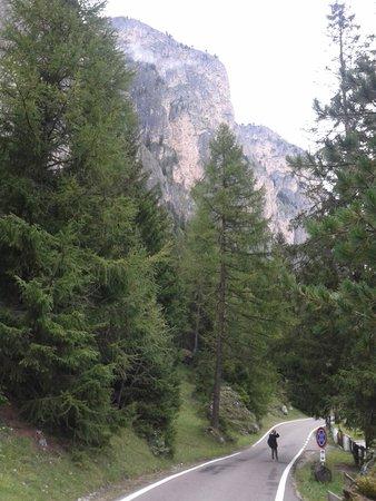 Pista da fondo Selva Gardena - Vallunga: la strada che conduce al park