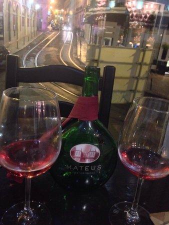 Limoncello: Portuguese wine and a nice view :)
