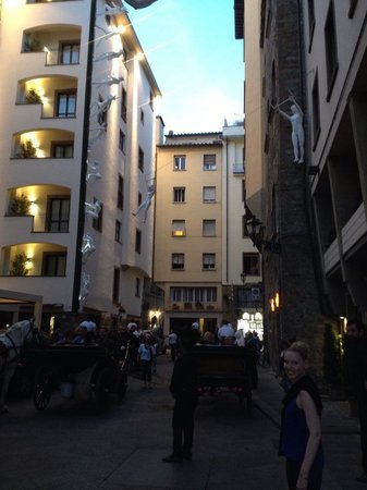 Continentale: Outside the front of the hotel.