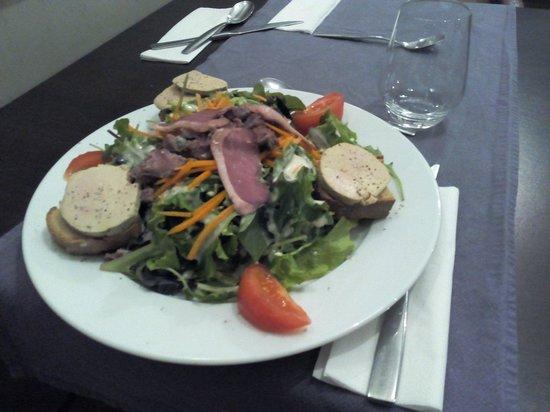 L'atelier de Jean : Salade gourmande au foie gras de canard