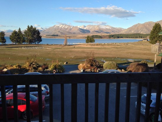 Lake Tekapo Village Motel: View from our second storey room - Lake Tekapo Scenic Resort.