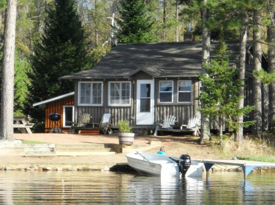 Saint Germain, WI: Cabin 1 at the water's edge