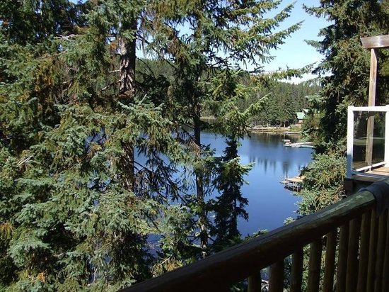 Idabel Lake Resort: view from front deck