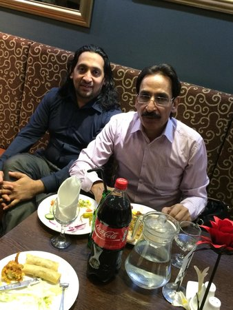 Halifax, UK: Babar Khan with Pakistani Stage Show Comedian Iftikhar Thakur!