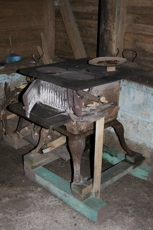 Coffee Tour El Cafetal : old coffee roasting oven