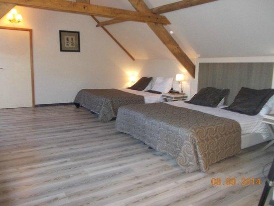 Floris Karos Hotel : δίκλινο με ....τέσσερα κρεβάτια !!! αλλά σοφίτα.