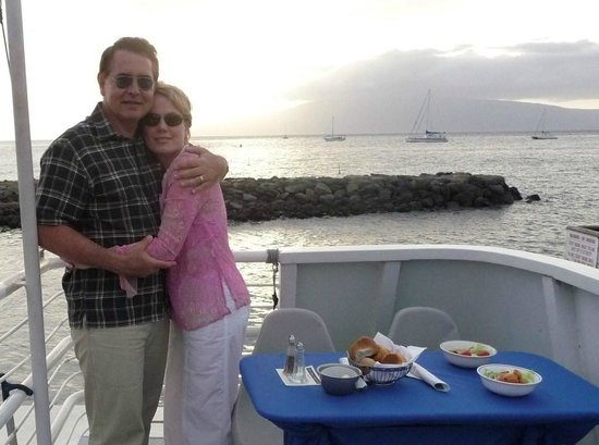 Lahaina Harbor: Departing on a sunset dinner cruise from Lahaina.